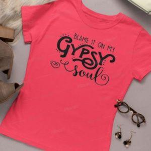 Blame it on my Gypsy Soul tshirt, hippy boho tee